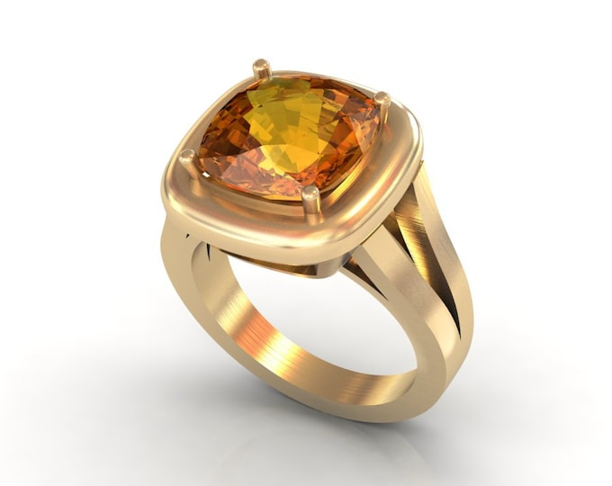 14k Yellow Gold Anniversary Ring with Citrine Item # LAFW-000-X-201
