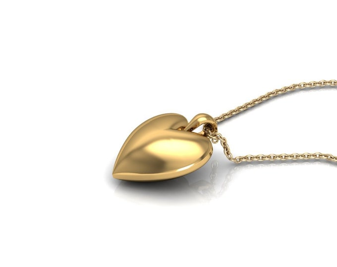 14k Yellow Gold Hart Pendants with 18 Inch Chain Item # PFW-000-X-56