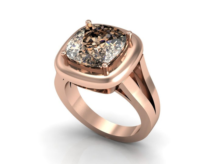 14k Rose Gold Anniversary Ring with Morganite Item # LAFW-000-X-199