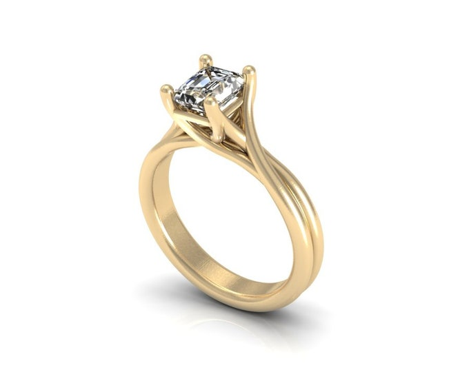 14 k Yellow Gold Engagement or Anniversary Ring with Moissanite Item # LAFW-000-X-137