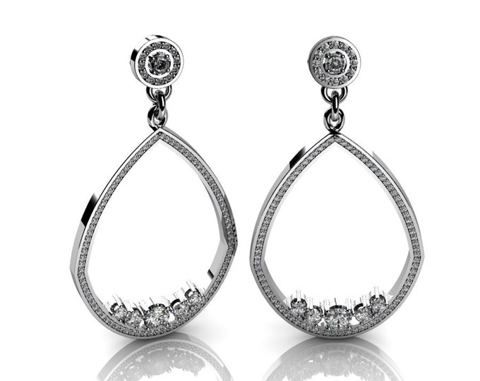 Shandelier-18k White Gold Classic Shandelier Earrings with Diamond Item # LAEFW-00824