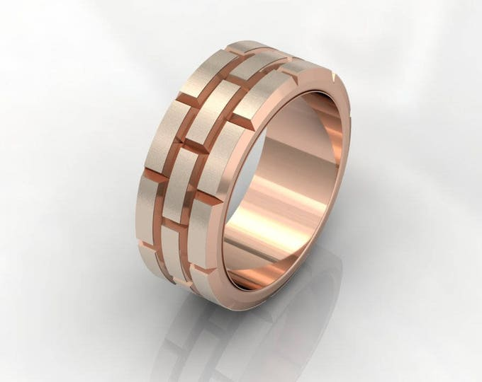 14k  Rose Gold Classic Engagement or Wedding Band Item # RFM-000-X-88