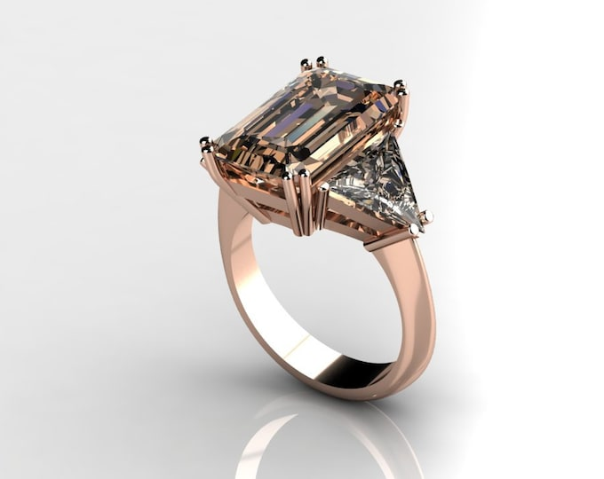 14k Rose Gold Classic Engagement or Wedding Ring with Morganite Item # RFW000-X-371