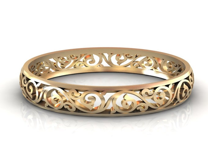 14K Yellow Gold  Bangles Bracelets Item # BFW-000-X-384
