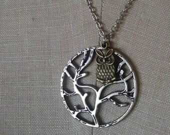 Owl Tree Pendant