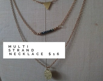 Gold Multi Strand Necklace