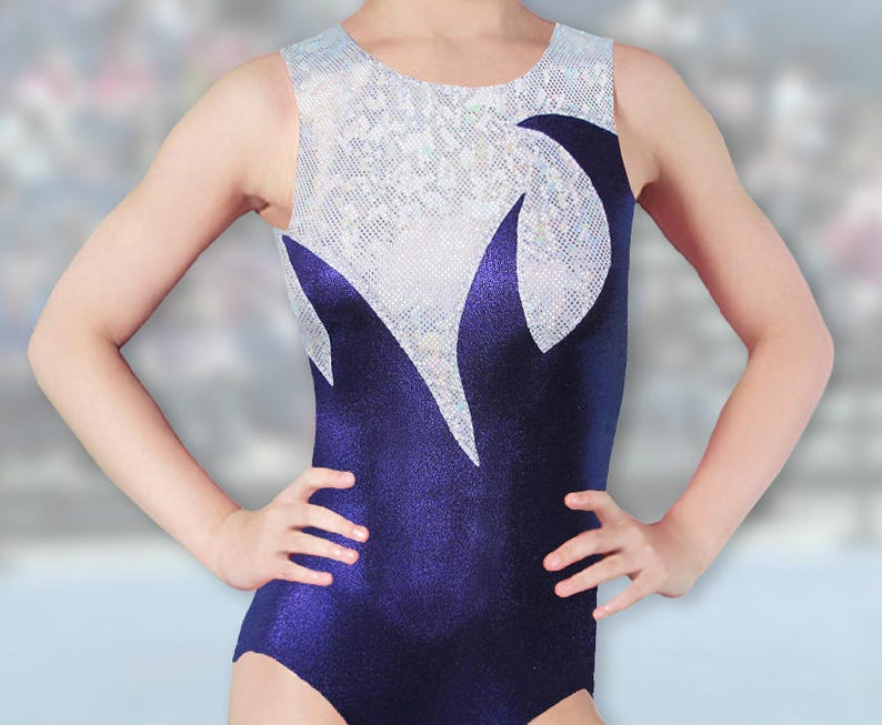 c5304e27a Gymnastics Leotard for Girls Mystique appliqued holographic