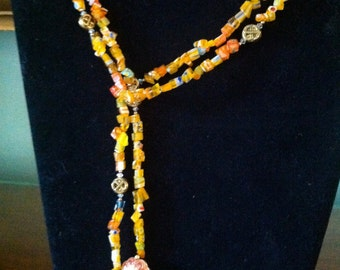 Orange Milleflori Lariat