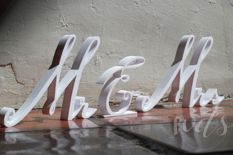 Mr /& Mrs Sign 6in Dark Walnut Finish Sweetheart Table decor head table decor sweetheart table sign sweetheart table wood sign FREE Shipping