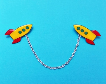 "Pixar Pals ""Lightyear Rocket"" Buzz Lightyear Astro Blasters Inspired Toy Story Collar Clips or Sweater Guards"