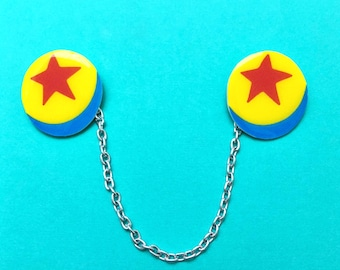 "Pixar Pals ""Luxo Ball""  Toy Story Ball Inspired Collar Clips or Sweater Guards"