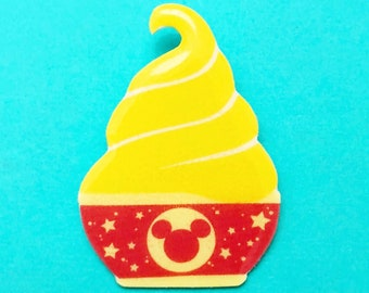 "Summer Time Collection ""Magical Mouse Dole Whip"" Dole Whip Float Inspired Brooch Pin"