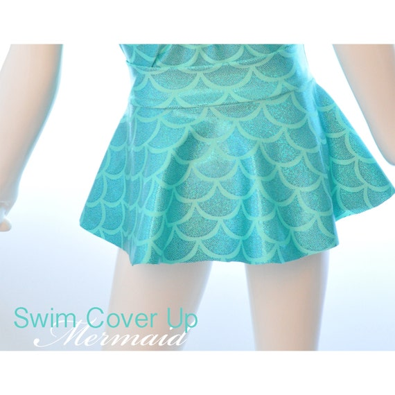 Girls Mermaid Swim Cover Up Skirt.  Skirt Only. Pool Skirt