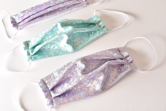 Kids Sparkle Mermaid Unicorn Mask. Pack of two.