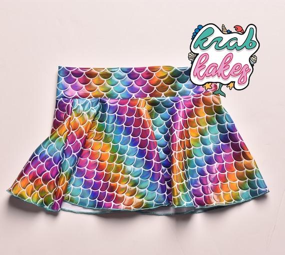 Girls Mermaid Swim Cover Up Skirt.  Skirt Only. Pool Skirt