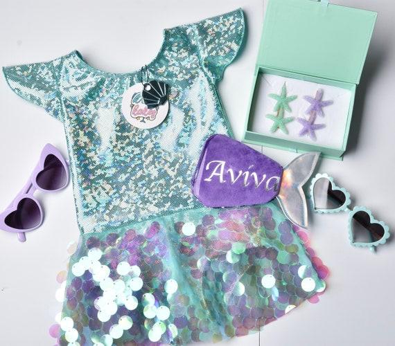 Mermaid Unicorn Gift Box. Sea Green Sparkle Gift