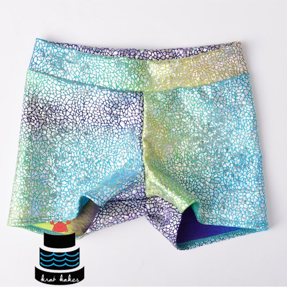Metallic Mermaid/ Unicorn Shorts Baby/Toddlers/Girls. Dance Spandex shorts. Gymnastics.