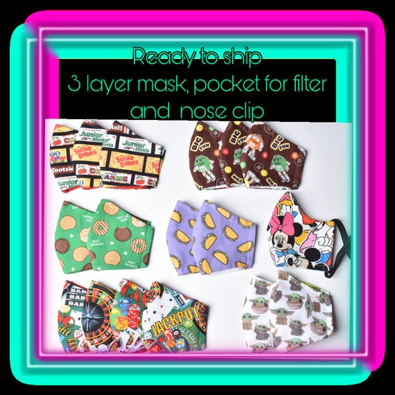 Face Covers/ Face Mask Many Prints To Choose