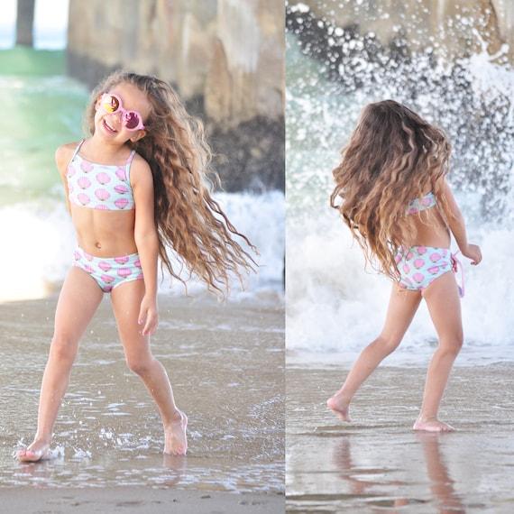 Girls Bikini Summer Shells.  Toddler Bikini. Mermaid Swimwear