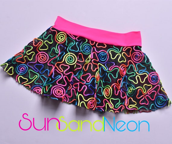Girl Neon Summer Play Pool Cover Up