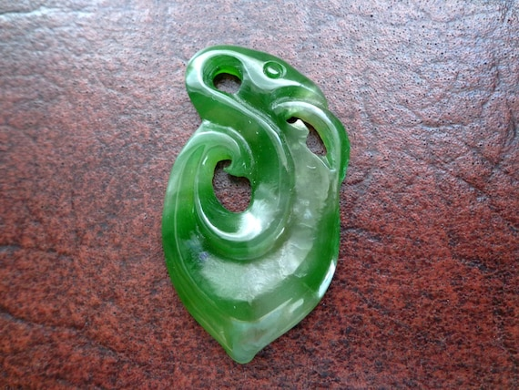 Nephrite jade swan  pendant S557