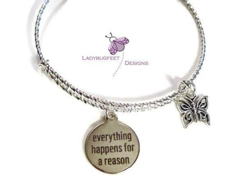 Everything Happens for a Reason Bangle image 0