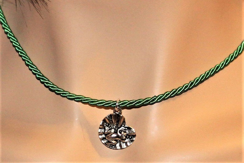 Frog on Lilypad Necklace 16 inch image 0