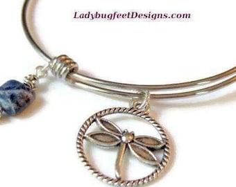 DRAGONFLY Stainless Steel Precious Stone bracelet