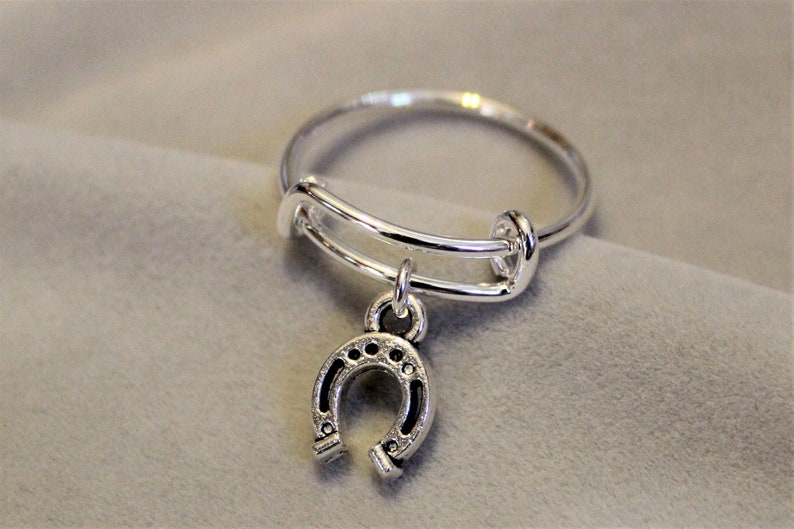 Horse Shoe Expandable Charm Ring image 0