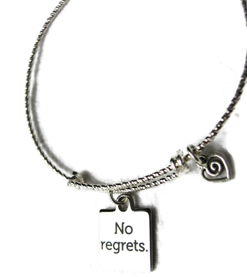 NO REGRETS Bracelet Diamond Cut 925 Sterling Silver image 0