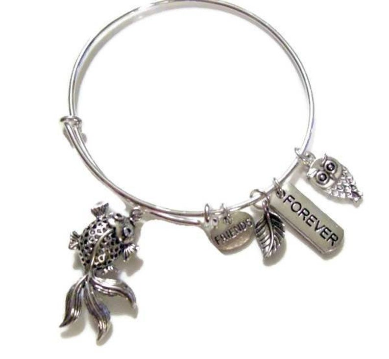 FRIENDS FOREVER KOI Owl Adjustable Bangle image 0