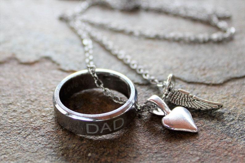 Dad Memory Necklace-Unisex necklace image 0