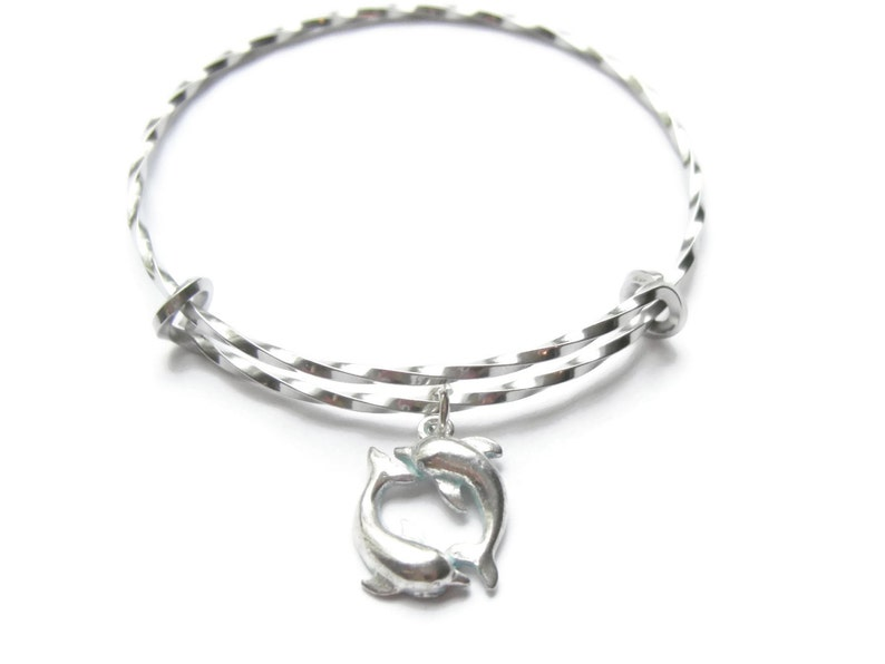 DOLPHIN / PORPOISE BRACELET Blue and Silver Dolphin image 0