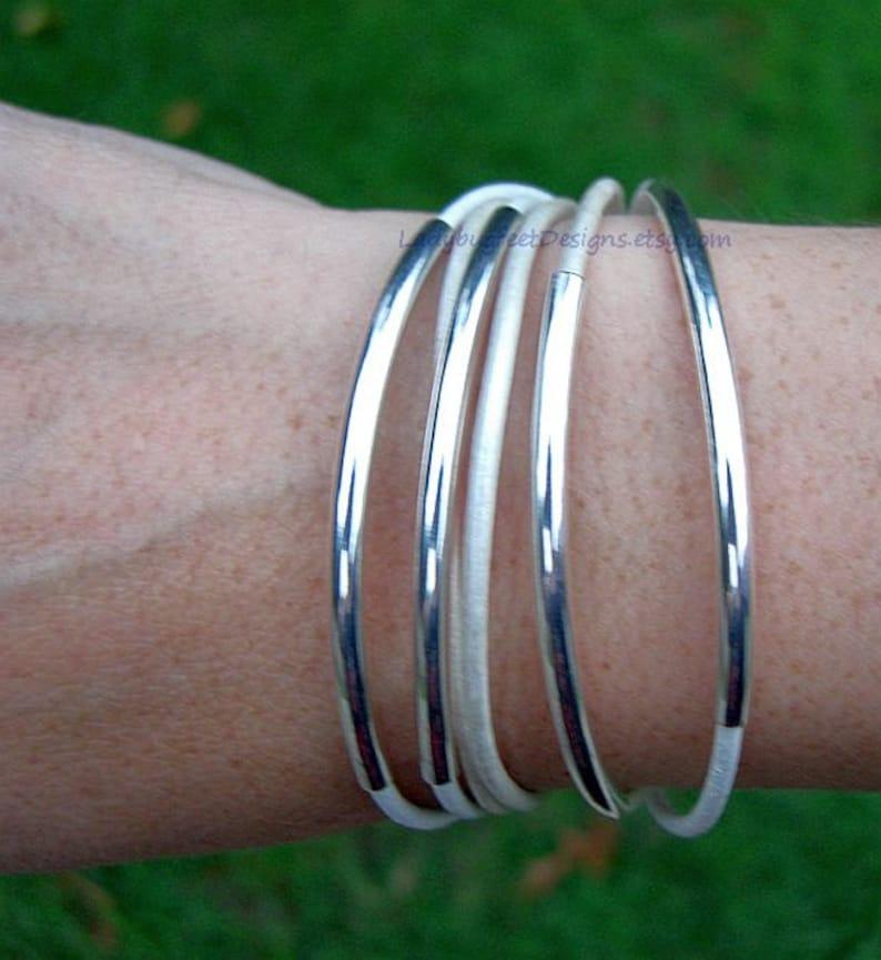Boho LEATHER Triple Wrap Bangle Bracelet  Genuine Leather w/ image 0