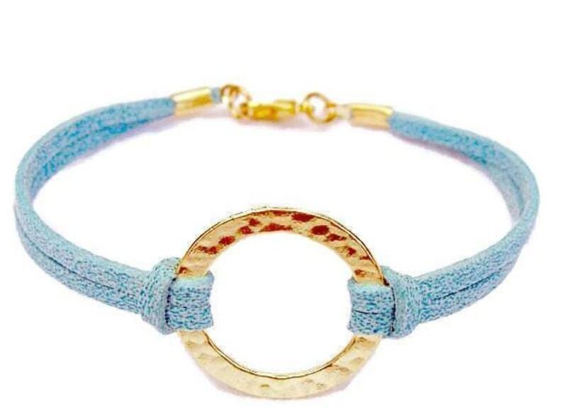 Gold Plated Infinity Circle Charm Bracelet image 0