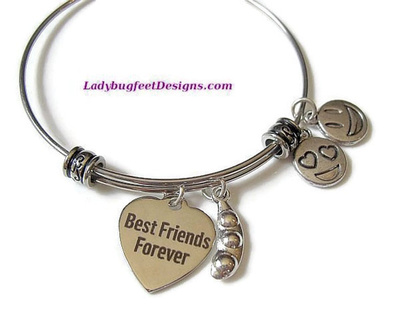 Best Friends Forever Peas in a Pod Stainless steel fancy image 0