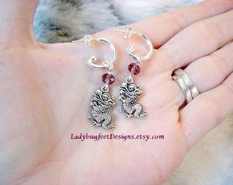 CHINESE DRAGON Crystal Earrings/Gift for her
