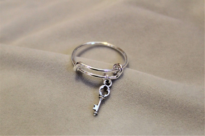 Key to my Heart Expandable Charm Ring image 0