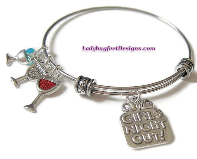 GIRLS NIGHT OUT Adjustable stacking bangle bracelet image 0