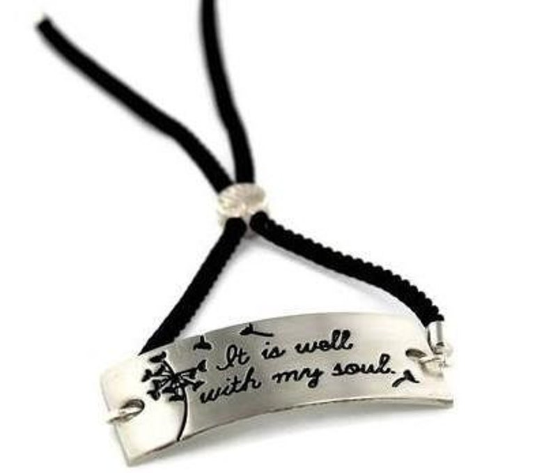 It Is Well With My Soul Adjustable Inspirational Bolo image 0