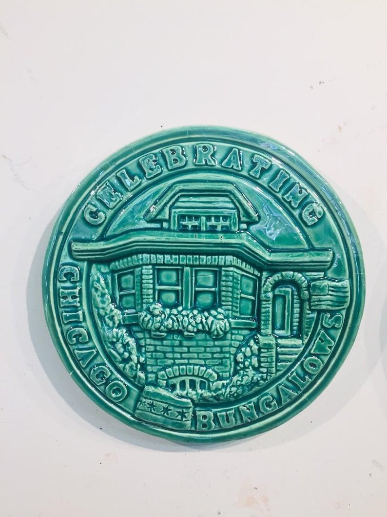 Chicago Bungalow Ceramic Plaque image 0