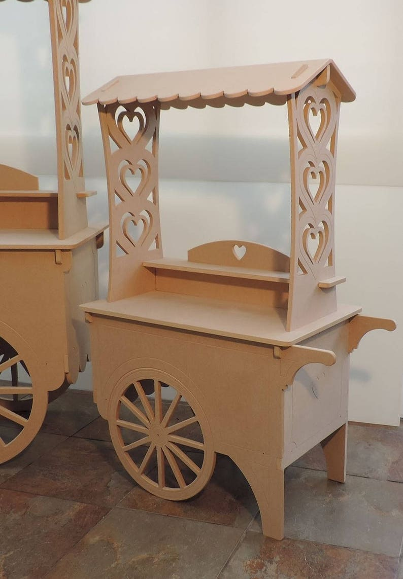 Top Quality Kids Size Candy Cart For Weddings Or Parties Wooden Mdf