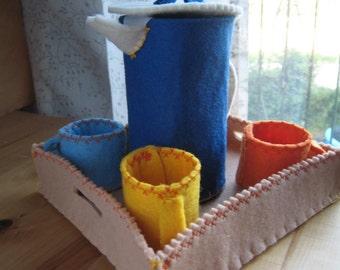 Coffee SERVICE of felt-handmade