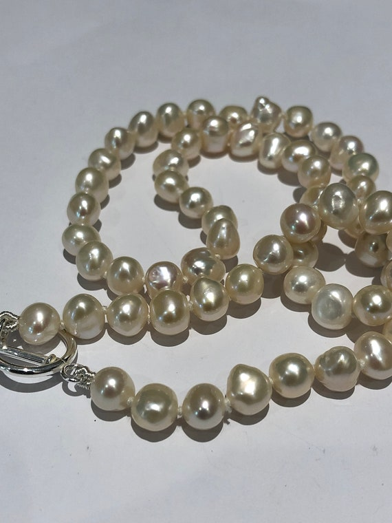 15 Inch Fresh Water Pearl 7-8mm Side Drilled Beads
