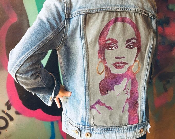 WKiD Women's Custom Denim Jacket | Sade
