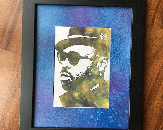 Black Thought Framed Print