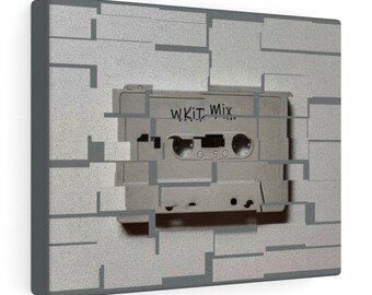 WKiD Canvas Print   Mix Tape