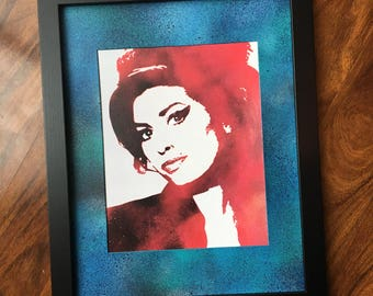 Amy Winehouse Framed Print