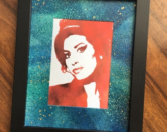 Amy Winehouse Framed Print 5x7