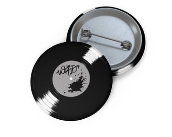 WKiD Button | Vinyl Record